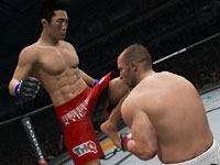 Landing a front knee on an opponent in UFC Undisputed 3