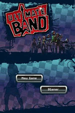 Start screen for 'Ultimate Band' for DS