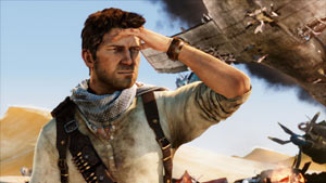 The hard to kill Nathan Drake after surviving a plane crash in Uncharted 3: Drake's Deception