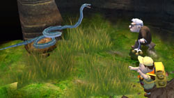 Facing off against a snake in 'UP' The Video Game