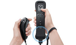 Wii Remote Plus with attached Nunchuk