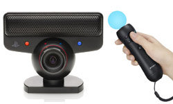 PlayStation Move featuring the PlayStation Eye peripheral and motion controller
