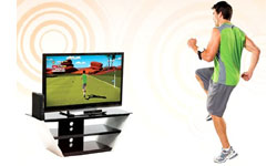 The controller-free Kinect sensor for Xbox 360 being used