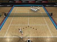 Serving mini-game from Virtua Tennis 4
