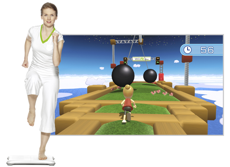 wii fit plus with balance board standard edition nintendo wii computer and video games. Black Bedroom Furniture Sets. Home Design Ideas