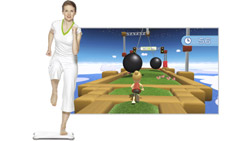 The 'Obstacle Course' balance game from 'Wii Fit Plus'