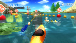 The Kayak time trial game from Wii Sports Resort
