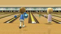 Bowling game from Wii Sports
