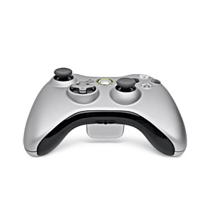 Amazon.com: Xbox 360 Silver Controller and Play & Charge