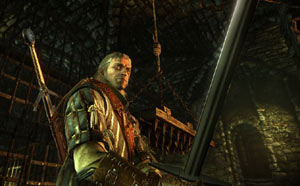 Geralt of Rivia wielding one of his two blade options in The Witcher 2: Assassins Of Kings Enhanced Edition