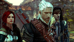 Triss, Geralt, and Vernon in The Witcher 2: Assassins Of Kings Enhanced Edition