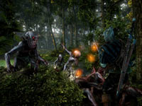 Geralt battling demons in the forest in The Witcher 2: Assassins Of Kings Enhanced Edition