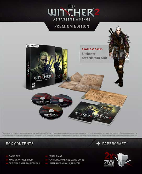 Witcher 2 Premium Edition Contents