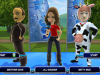 Commentator Jill Wagner introducing contestants in Wipeout 2