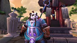 A Pandaren Monk from World of Warcraft: Mists of Pandaria