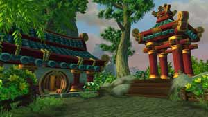 Beautiful Asian inspired scenery from World of Warcraft: Mists of Pandaria