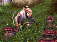 A Hozen foraging beast from World of Warcraft: Mists of Pandaria