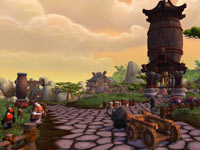 An elaborate game environment from World of Warcraft: Mists of Pandaria
