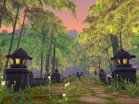A mixed jungle game environment from World of Warcraft: Mists of Pandaria
