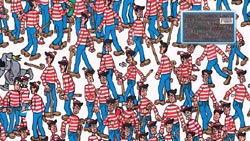 Classic Where's Waldo visual gameplay in Where's Waldo?: The Fantastic Journey for Wii
