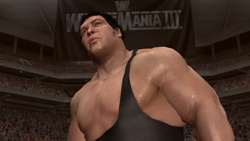 Andre the Giant at WrestleMania III in 'WWE Legends of WrestleMania'