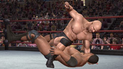 Stone Cold Steve Austin beating up 'The Rock' in 'WWE Legends of WrestleMania'