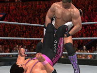 Positioning an opponent for a submission hold in WWE SmackDown vs. Raw 2011