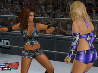 Divas brawling in the ring in WWE SmackDown vs. Raw 2011