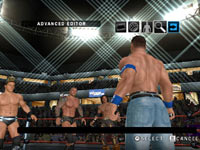 Cena facing down three opponents in WWE Smackdown vs Raw 2010 for PSP