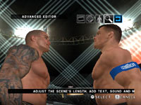 Story designer feature screen in WWE Smackdown vs Raw 2010 for Wii