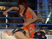 Divas duking it out in WWE Smackdown vs Raw 2010 for PSP