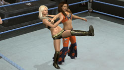 Divas in action in the ring in WWE SmackDown vs. Raw 2010