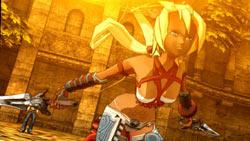 Anime cutscene example of Ayumi in 'X-Blades'