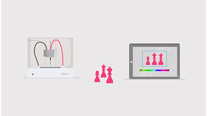 New Matter MOD-t Desktop 3D Printer | Built-In WiFi, Easy to Use