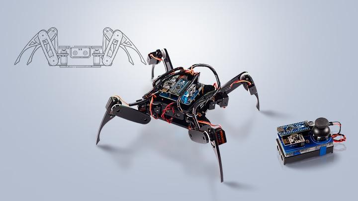 Sunfounder arduino crawling quadruped robot amazon