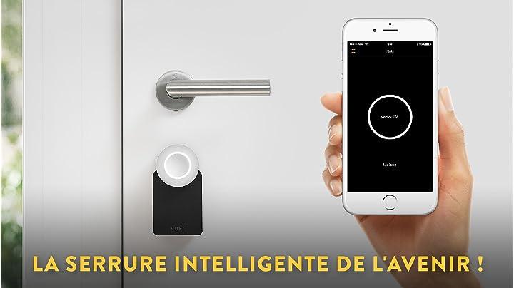 Nuki Smart Lock - serrure électronique Bluetooth - ouverture automatique de la porte via