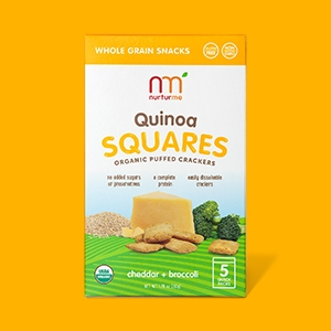 NurturMe Organic Quinoa Squares, Sweet Potato/Apple and Cinnamon, 5 ...