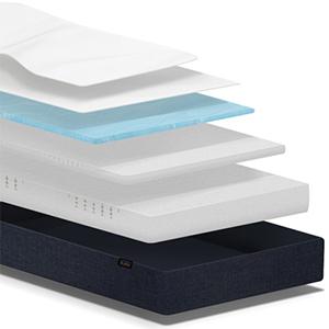 buddy 7 zonen kaltschaummatratze mit gelauflage 140 x 200. Black Bedroom Furniture Sets. Home Design Ideas