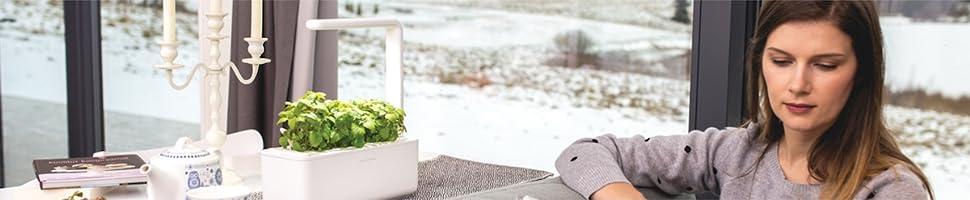Click & Grow Smart Garden 3 Indoor Gardening Kit (Includes Basil Capsules), White 20