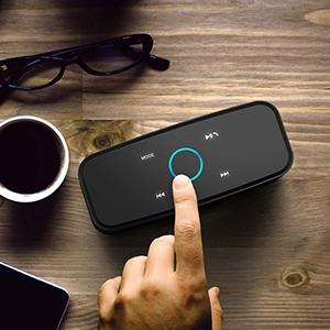 Enceinte Bluetooth 12W, DOSS SoundBox Haut-Parleur Bluetooth sans Fil Portable,Commande Tactile et Définition Stéréo, 12 Heures d'Autonomie en Lecture,Mains Libres Téléphone, Carte TF Support.-Noir 11