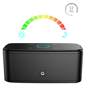 Enceinte Bluetooth 12W, DOSS SoundBox Haut-Parleur Bluetooth sans Fil Portable,Commande Tactile et Définition Stéréo, 12 Heures d'Autonomie en Lecture,Mains Libres Téléphone, Carte TF Support.-Noir 14