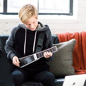 jamstik black portable app enabled midi electric guitar for beginners and music. Black Bedroom Furniture Sets. Home Design Ideas