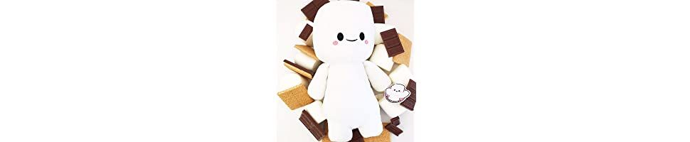 Smores Stuffed Animal, Amazon Com Marshfellows The First Huggable S More Stuffed Animal Ultra Soft Toy Toys Games