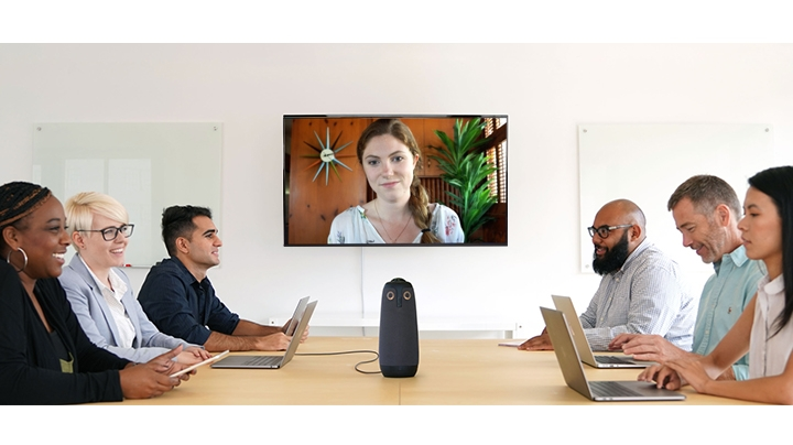 Meeting Owl 360 Degree Video Conference Camera with Automatic Speaker Focus