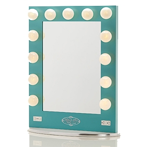 Amazon.com: White Vanity Girl Broadway Lighted Vanity Mirror with 2 Outlets and Dimmer Switch ...