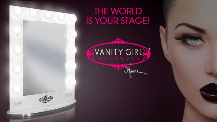 Amazon.com: Broadway Lighted Vanity Mirror - Gloss Black: Amazon Launchpad