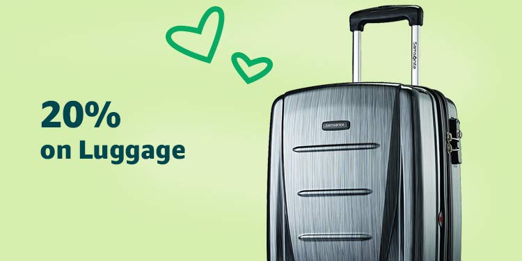 Amazon Warehouse 20% off Luggage