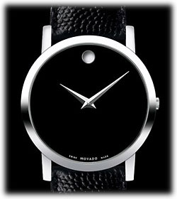 amazon com movado men s 606085 museum black leather strap watch product description