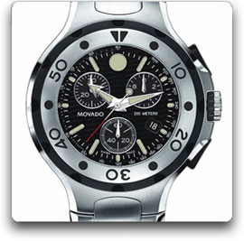This Movado Series 800 Stainless Steel, Swiss Chronograph For Men Has A  Large, Round Watch Case Thatu0027s Topped By A Perfectly Circular  Unidirectional ...