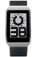 E Ink Digital Hour Clock Watch with Black Leather Band